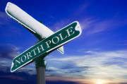 Kriss Kringle Posters - Signpost To The North Pole Poster by Chris Knorr