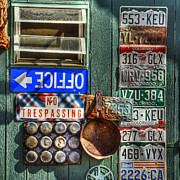 Storefront Art - Signs and License Plates by Ken Smith
