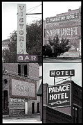 Old Signs Posters - Signs in Salida photography collage Poster by Ann Powell