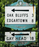 Arrows Metal Prints - Signs of Simpler Times Marthas Vineyard Massachusetts Metal Print by Michelle Wiarda