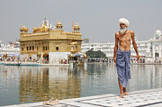 In The Bath Photo Framed Prints - Sikh pilgrim at the Golden Temple Harmandir Sahib in Amritsar India Framed Print by Paul Rudd
