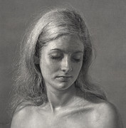 Graphite Pencil Drawings - Silence by Dirk Dzimirsky