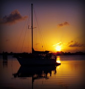 Boats Photos - SILENCE of NIGHT by Karen Wiles