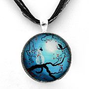 Surrealism Jewelry - Silent Connection Pendant by Laura Iverson