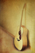 Music Time Photo Posters - Silent Guitar Poster by Priska Wettstein