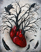 Edgar Allan Poe Paintings - Silent Heart by Billi  Capman