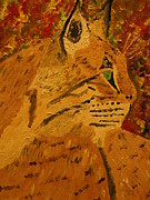 """bobcat "" Paintings - Silent Hunter by Harold Greer"