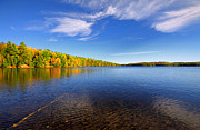 Autumn Landscape Prints - Silent Lake 4 Print by Charline Xia