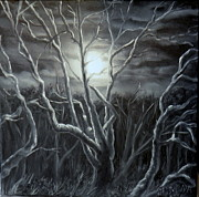 Eerie Paintings - Silent Moonlight by Ida Eriksen