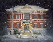 City Hall Painting Framed Prints - Silent Night Framed Print by Gregory Karas
