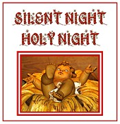 Snowy Night Metal Prints - Silent Night Holy Night Metal Print by Rose Santuci-Sofranko