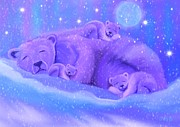 Polar Bears Framed Prints - Silent Night Framed Print by Nick Gustafson