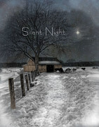 Christmas Star Posters - Silent Night Poster by Robin-lee Vieira