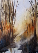 Haze Painting Originals - Silent Places by Sandra Strohschein