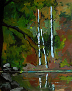 Reflective Surfaces Art - Silent Pond by Charlie Spear