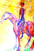 Perform Paintings - Silent Rider by Hilde Widerberg