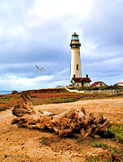 Maine Lighthouses Digital Art Prints - Silent Sentinel Print by Tom Schmidt
