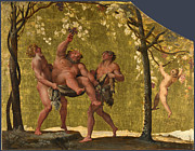 Famous Artists - Silenus gathering Grapes by Annibale Carracci