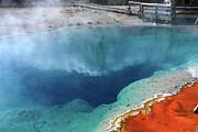Geysers Prints - Silex Spring Yellowstone National Park Print by Aidan Moran