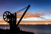 Machinery Photo Posters - Silhouette of Davit Poster by Semmick Photo