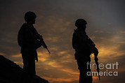 Featured Art - Silhouette Of U.s. Air Force Members by Stocktrek Images