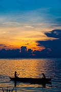 Fototrav Print - Silhouette on peaceful sunset Borneo Malaysia