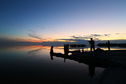 Salton Sea Prints - Silhouette Photographers Print by Larry Marshall