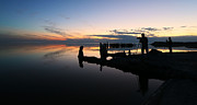 Larry Marshall Prints - Silhouette Photographers Panorama Print by Larry Marshall