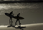 Surf Silhouette Framed Prints - Silhouette Framed Print by Will Cornell