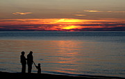 New Generations Photo Prints - Silhouetted in Sunset at Sturgeon Point Marina Print by Rose Santuci-Sofranko