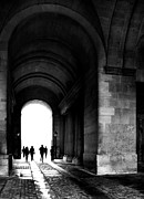 Louvre Framed Prints - Silhouettes - Paris Framed Print by Philip Sweeck
