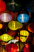 Paper Lantern Photos - Silk lanterns in Hoi An city Vietnam by Fototrav Print