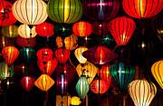 Silk Lanterns In Vietnam Print by Fototrav Print