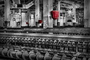 Grinding Prints - Silk Mill  Print by Susan Candelario