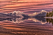 Glacier National Park Prints - Silken Sunset Print by Aaron Aldrich