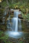 Featured Metal Prints - Silky Flow Of Waterfalls, Rainbow Metal Print by Roberta Murray
