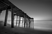 Nj Photo Originals - Silky Sunrise Black and White by Michael Ver Sprill