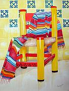 Kitchen Chair Paintings - Silla de la Cocina--Kitchen Chair by Kandyce Waltensperger