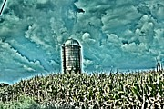 Jahred Allen Photography Posters - Silo in the clouds Poster by Jahred Klahre