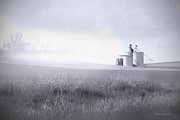 Silos Framed Prints - Silo Mist Framed Print by Melisa Meyers