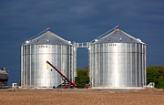 Cultivate Framed Prints - Silos in Ontario Framed Print by Valentino Visentini