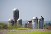 Einstien Prints - Silos - Norristown Farm Park Print by Bill Cannon
