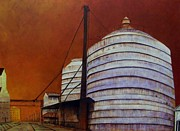 Susan Williams Phillips - Silos With Sienna Sky