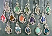 Jordan Jewelry - Silver and Gemstone Swish Pendant by Heather Jordan