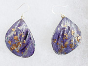 Mauve Jewelry - Silver and Gold Lilacs by Christiane Kingsley