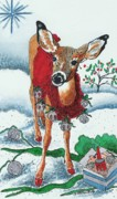 Blank Greeting Card Prints - Silver Bells Print by Joy Bradley                   DiNardo Designs