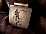 Bird Jewelry Prints - Silver bird Print by Patricia  Tierney