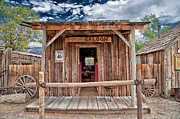 Old West Photo Metal Prints - Silver Canyon Saloon Metal Print by Cat Connor