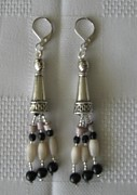 Quality Jewelry - Silver Cone Hanging Earrings by Fatima Pardhan