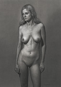 Nudes Drawings - Silver by Dirk Dzimirsky